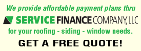 Starkweather And Sons Roofing and Siding Offers Financing Options for all home improvement projects!
